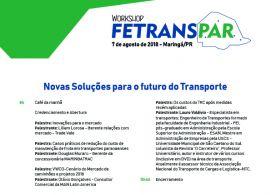Novas Soluções para o futuro do Transporte serão discutidas em Maringá